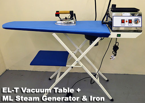 EL-T vacuum ironing table with ML